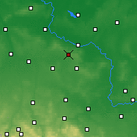 Nearby Forecast Locations - Wierzchowice - Map