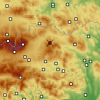 Nearby Forecast Locations - Nová Ľubovňa - Map