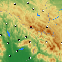 Nearby Forecast Locations - Żubracze - Map