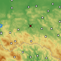 Nearby Forecast Locations - Jasło - Map