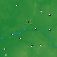 Nearby Forecast Locations - Ostrów Mazowiecka - Map