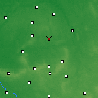 Nearby Forecast Locations - Ostrów Wielkopolski - Map