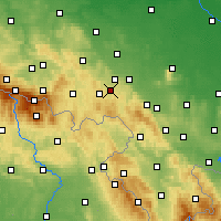 Nearby Forecast Locations - Wałbrzych - Map