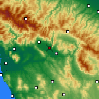 Nearby Forecast Locations - Prato - Map