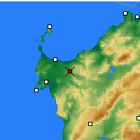 Nearby Forecast Locations - Sassari - Map