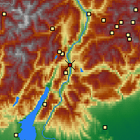 Nearby Forecast Locations - Trento - Map