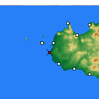 Nearby Forecast Locations - Marsala - Map