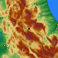 Nearby Forecast Locations - L'Aquila - Map