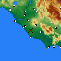 Nearby Forecast Locations - Aprilia - Map