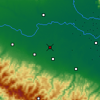Nearby Forecast Locations - Carpi - Map