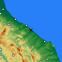 Nearby Forecast Locations - Fano - Map