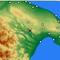Nearby Forecast Locations - Matera - Map