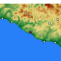 Nearby Forecast Locations - Agrigento - Map