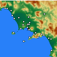 Nearby Forecast Locations - Portici - Map