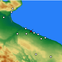 Nearby Forecast Locations - Trani - Map