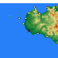 Nearby Forecast Locations - Mazara del Vallo - Map