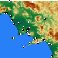 Nearby Forecast Locations - Casalnuovo di Napoli - Map