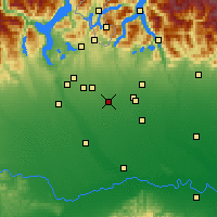 Nearby Forecast Locations - Rho - Map