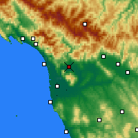 Nearby Forecast Locations - Lucca - Map