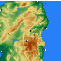 Nearby Forecast Locations - Nuoro - Map