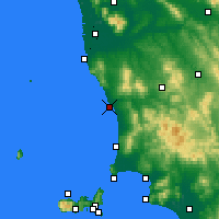 Nearby Forecast Locations - Marina de Cecina - Map