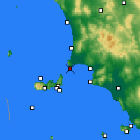Nearby Forecast Locations - Piombino - Map