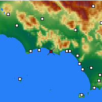 Nearby Forecast Locations - Sperlonga - Map