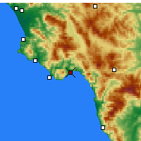 Nearby Forecast Locations - Policastro Bussentino - Map
