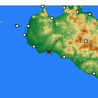 Nearby Forecast Locations - Marinella di Selinunte - Map