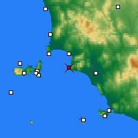 Nearby Forecast Locations - Punta Ala - Map