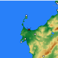 Nearby Forecast Locations - Porto Torres - Map