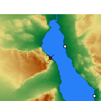 Nearby Forecast Locations - Wade El Dom Marina - Map