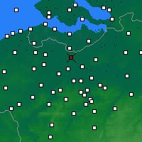 Nearby Forecast Locations - Wachtebeke - Map