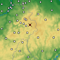 Nearby Forecast Locations - Bütgenbach - Map