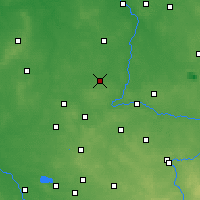 Nearby Forecast Locations - Wieluń - Map