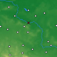 Nearby Forecast Locations - Głogów - Map