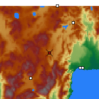 Nearby Forecast Locations - Korkuteli - Map