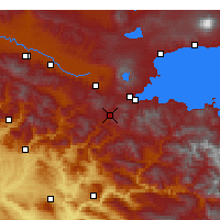 Nearby Forecast Locations - Bitlis - Map