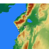 Nearby Forecast Locations - Antakya - Map