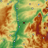Nearby Forecast Locations - Bourg-de-Péage - Map