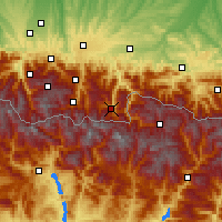Nearby Forecast Locations - Bagnères-de-Luchon - Map