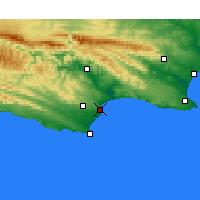 Nearby Forecast Locations - Jeffreys Bay - Map