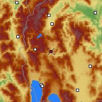 Nearby Forecast Locations - Kičevo - Map