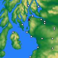 Nearby Forecast Locations - Inverkip - Map