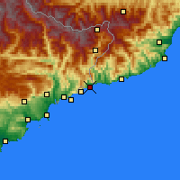 Nearby Forecast Locations - Menton - Map