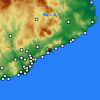 Nearby Forecast Locations - Sant Andreu de Llavaneres - Map