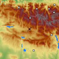 Nearby Forecast Locations - Jaca - Map