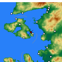 Nearby Forecast Locations - Mytilene - Map