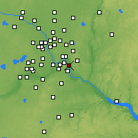 Nearby Forecast Locations - South St. Paul - Map
