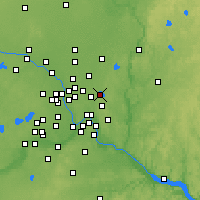 Nearby Forecast Locations - White Bear Lake - Map